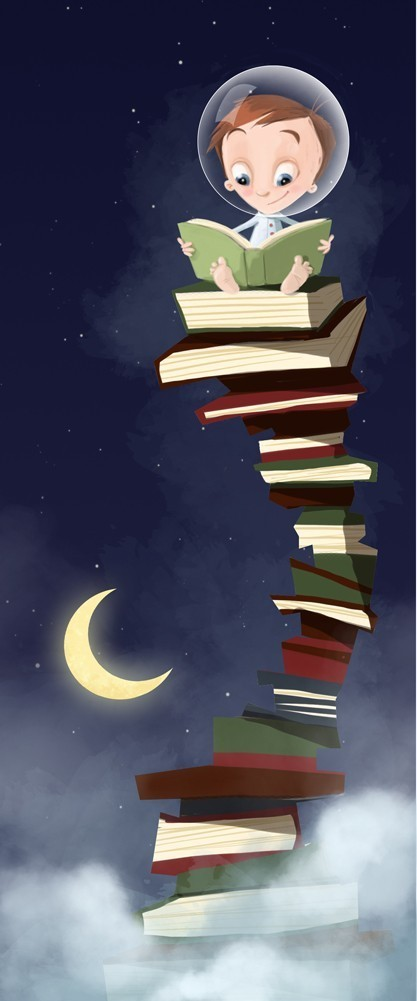 Books to the sky...