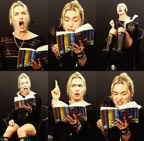 """Kate Winslet reads """"Mr. Gum"""" to a group of young children at the Port Eliot Festival."""